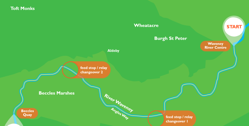 River Waveney Swim Map